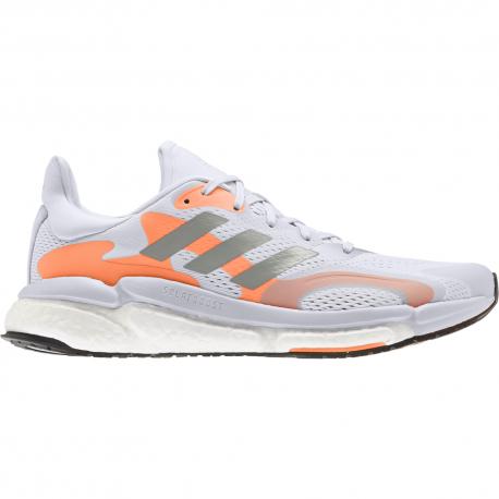 Adidas Scarpe Running Solar Boost 21 Bianco Arancio Uomo