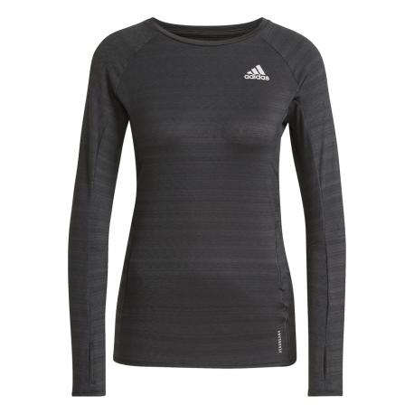 ADIDAS maglia running adi runner nero argento donna