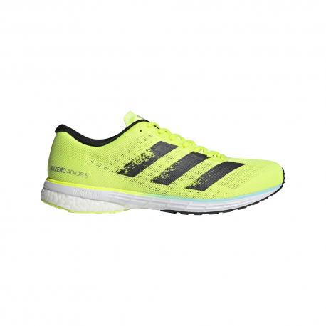 ADIDAS scarpe running adizero adios 5 giallo fluo nero uomo