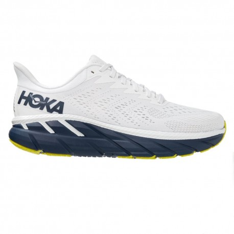 Hoka Scarpe Running Clifton 7 Bianco Blu Uomo