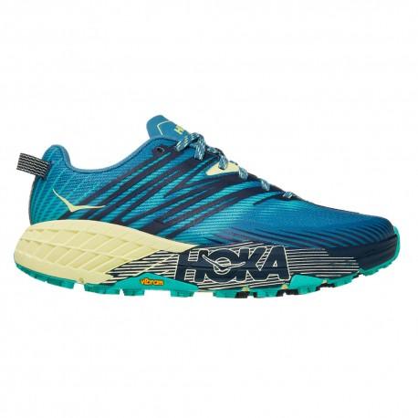 Hoka Scarpe Trail Running Speedgoat 4 Blu Verde Donna
