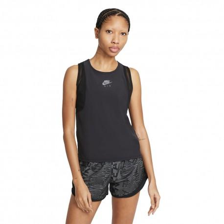 Nike Canotta Running Air Nero Grigio Donna