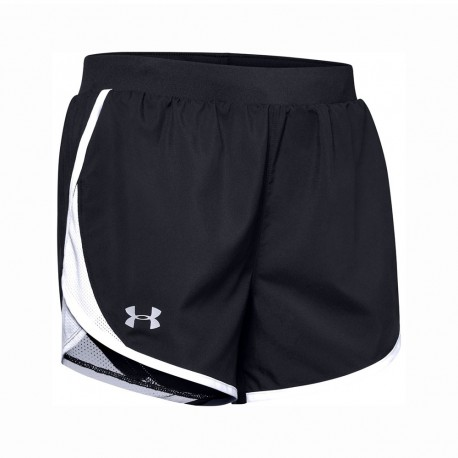 Under Armour Short Running Fly By 2.0 Nero Bianco Donna