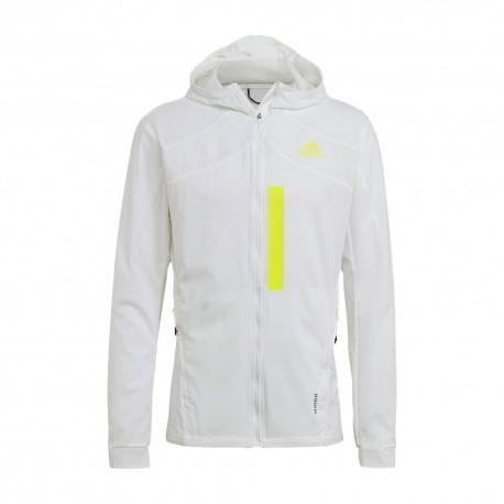 ADIDAS giacca running marathon bianco uomo